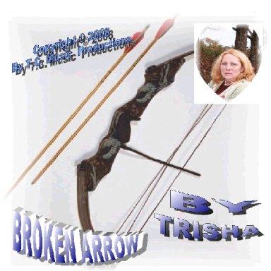 Broken Arrow By Artist Trisha Blue Water